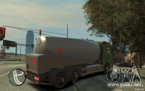 Mercedes Benz Actros Gas Tanker para GTA 4 vista desde abajo