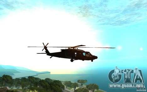 MH-60L Blackhawk para GTA San Andreas vista posterior izquierda