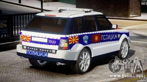 Range Rover Macedonian Police [ELS] para GTA 4 vista superior
