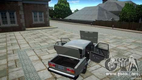 VAZ 2107 v1.0 para GTA 4 vista interior