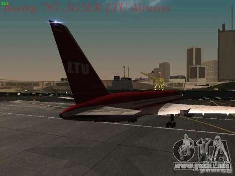 Boeing 767-3G5ER LTU Airways para la visión correcta GTA San Andreas