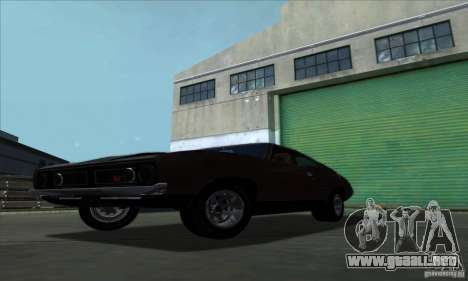 Ford Falcon GT Pursuit Special V8 Interceptor para GTA San Andreas vista posterior izquierda