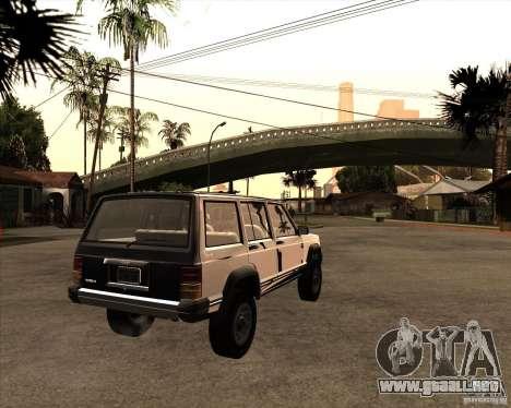 Jeep Cherokee para GTA San Andreas left
