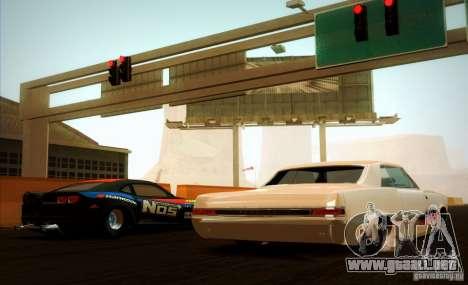 Pontiac GTO Drag Shark para GTA San Andreas vista hacia atrás
