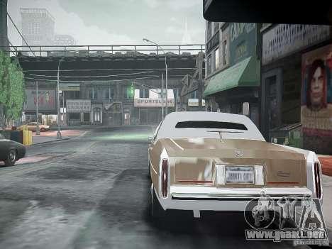 Cadillac Fleetwood 1985 para GTA 4 Vista posterior izquierda