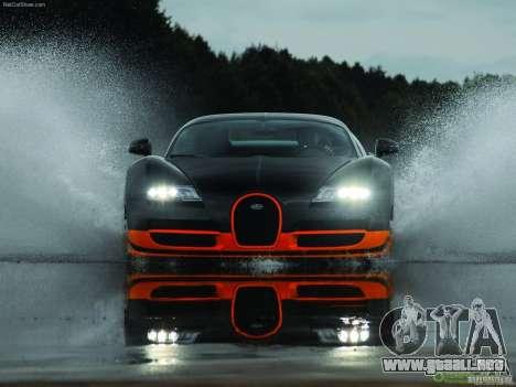 Cargando las pantallas Bugatti Veyron para GTA San Andreas