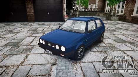 Volkswagen GOLF MK2 GTI para GTA 4 vista hacia atrás