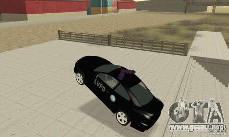 Pontiac GTO 2004 Cop para GTA San Andreas vista hacia atrás