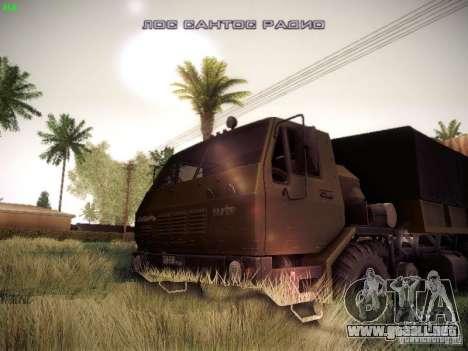 KrAZ 6316 para GTA San Andreas vista hacia atrás