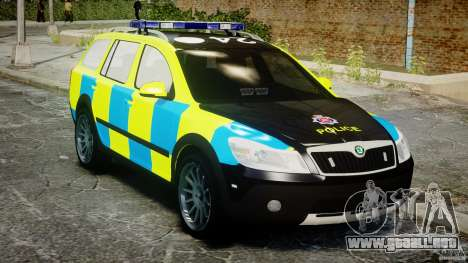Skoda Octavia Scout Essex [ELS] para GTA 4 vista interior