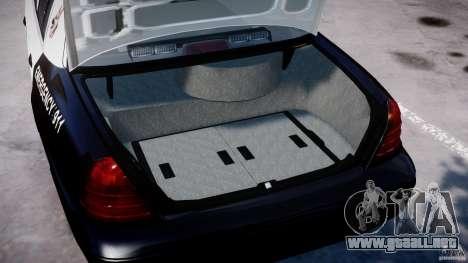 Ford Crown Victoria SFPD K9 Unit [ELS] para GTA 4 vista lateral