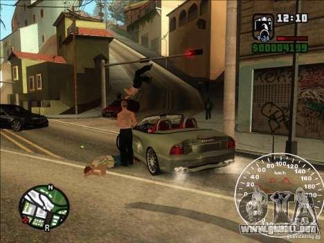 Spyder Cambriocorsa para GTA San Andreas vista hacia atrás