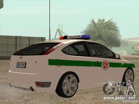 Ford Focus ST Policija para la visión correcta GTA San Andreas