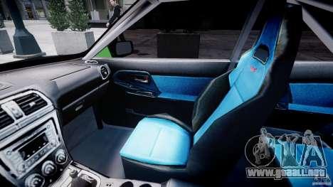 Subaru Impreza STI Wide Body para GTA 4 vista hacia atrás