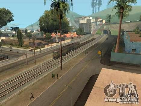 2Te10l locomotora diesel para GTA San Andreas vista hacia atrás