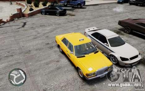Mercedes-Benz 230 E Taxi para GTA 4 vista interior