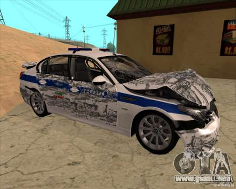 BMW M5 E60 DPS para la vista superior GTA San Andreas