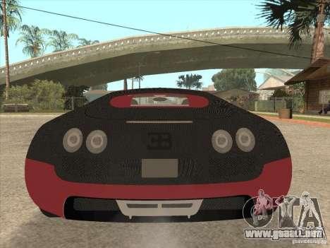 Bugatti Veyron Super Sport para GTA San Andreas interior