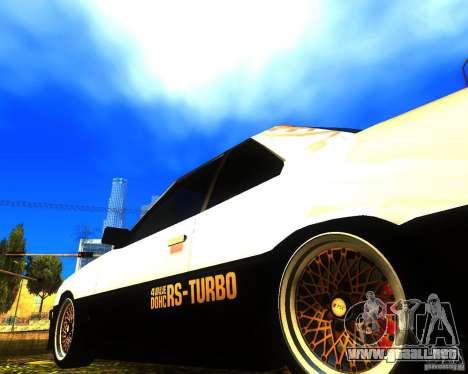 Nissan Skyline RS TURBO (R30) para la visión correcta GTA San Andreas