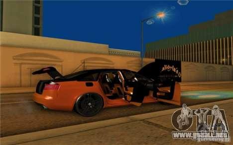 Audi RS6 Black Edition para la visión correcta GTA San Andreas