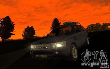 Land Rover Range Rover para visión interna GTA San Andreas