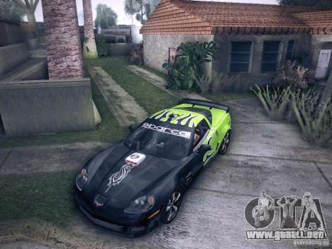 Chevrolet Corvette C6 Z06 Tuning para vista lateral GTA San Andreas