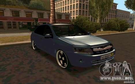 Lada Granta TUNING para visión interna GTA San Andreas