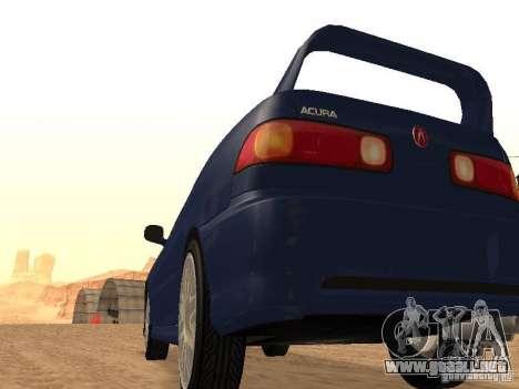 Acura RSX Light Tuning para GTA San Andreas vista posterior izquierda