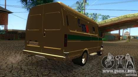 Servicios de transporte gacela 2705 para la visión correcta GTA San Andreas