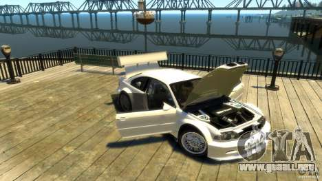 BMW E46 M3 GTR Sport para GTA 4 vista interior