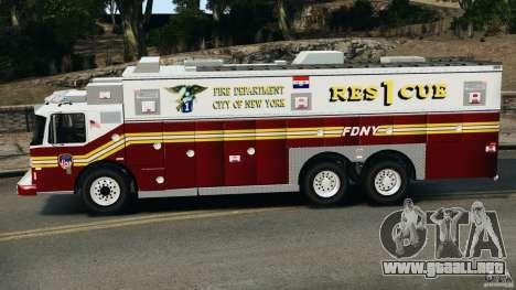 FDNY Rescue 1 [ELS] para GTA 4 left