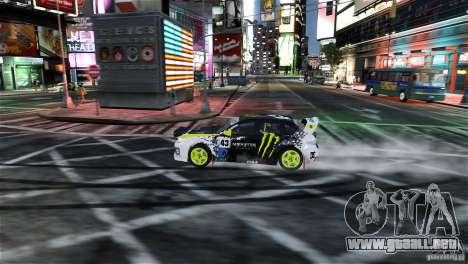 Subaru Impreza WRX STI Rallycross Monster Energy para GTA 4 vista lateral