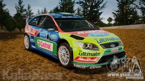 Ford Focus RS WRC para GTA 4 vista desde abajo