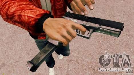 Glock 18 Akimbo (negro/gris) para GTA 4 segundos de pantalla