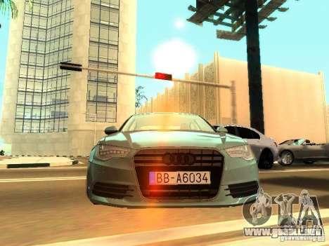 Audi A6 Stanced para GTA San Andreas vista posterior izquierda