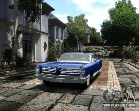 Pontiac Bonneville 1966 para GTA 4 vista hacia atrás