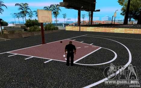 La nueva cancha de baloncesto para GTA San Andreas sexta pantalla