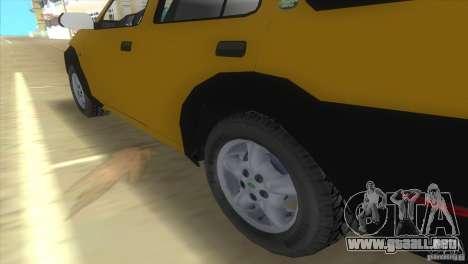 Land Rover Freelander para GTA Vice City vista lateral izquierdo