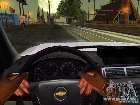 Chevrolet Silverado Rockland Police Department para visión interna GTA San Andreas