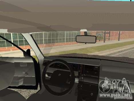 Renault 11 Police para visión interna GTA San Andreas