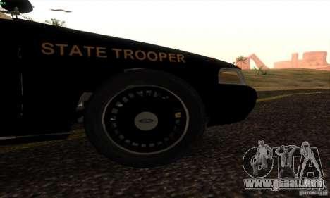 Ford Crown Victoria Florida Police para GTA San Andreas vista posterior izquierda