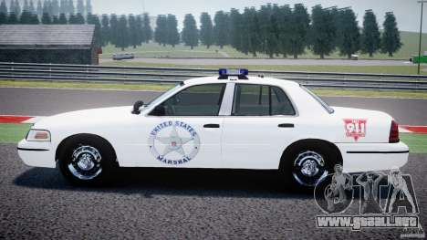 Ford Crown Victoria US Marshal [ELS] para GTA 4 left