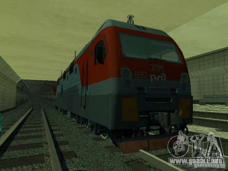 ÈP1M-392 OJSC «RUSSIAN RAILWAYS» para visión interna GTA San Andreas