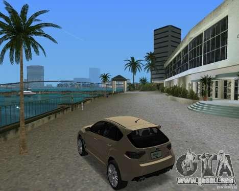 Subaru Impreza WRX STI para GTA Vice City visión correcta
