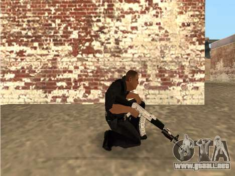 Chrome and Blue Weapons Pack para GTA San Andreas sucesivamente de pantalla