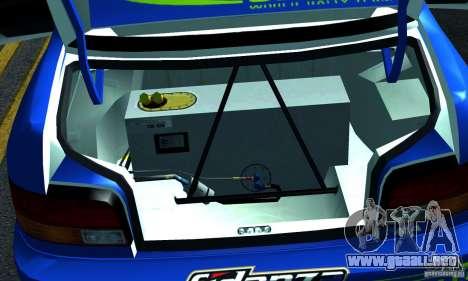 Subaru Impreza 1995 World Rally ChampionShip para vista lateral GTA San Andreas