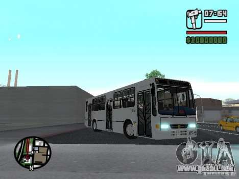 Busscar Urbanus SS Volvo B10M para visión interna GTA San Andreas