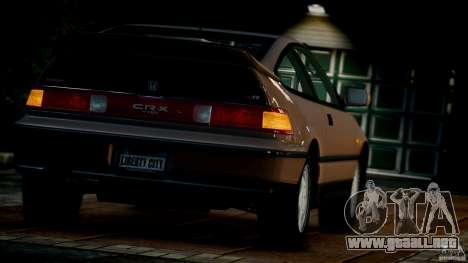 Honda CR-X SiR 1991 para GTA 4 vista lateral