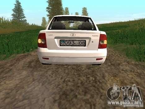 VAZ 2170 Lada Priora para la visión correcta GTA San Andreas