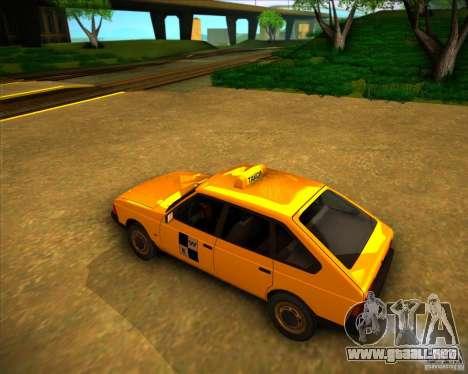 Taxi AZLK 2141 para GTA San Andreas vista posterior izquierda